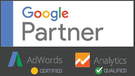 Logo Google Partner Certified Adwords et Qualified Analitics