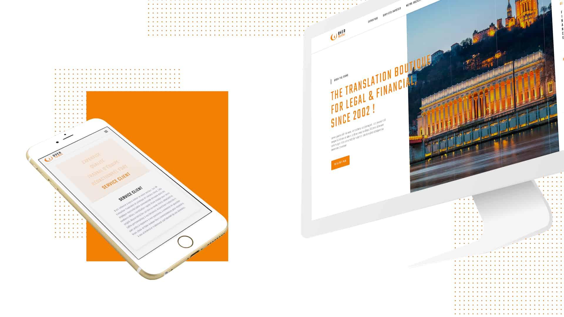 Mock-up desktop de la création du site de OTW par l'agence web Digital Cover