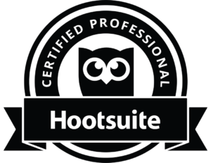 Certification Hootsuite format PNG blanc fond transparent