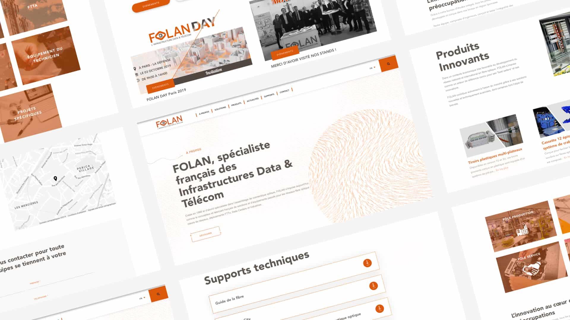Refonte du site internet et espace pro de Folan vu desktop par Digital Cover, agence web Lyon
