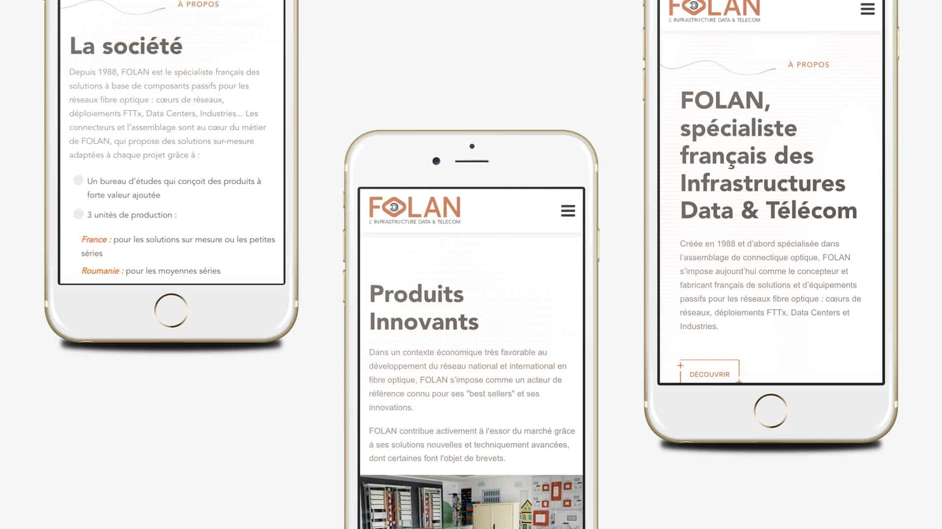 Refonte du site internet et espace pro de Folan vu Mobile par Digital Cover, agence web Lyon